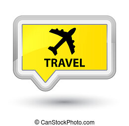 Travel (plane icon) prime yellow banner button