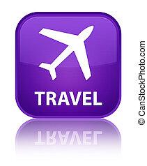 Travel (plane icon) special purple square button