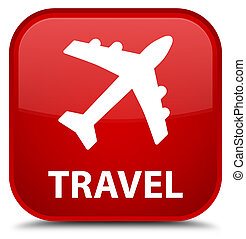 Travel (plane icon) special red square button