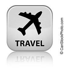 Travel (plane icon) special white square button