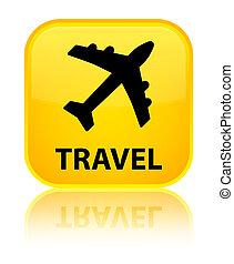 Travel (plane icon) special yellow square button