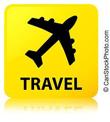 Travel (plane icon) yellow square button