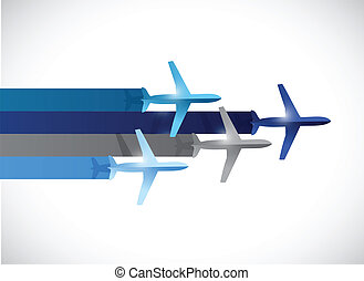 travel plane illustration design