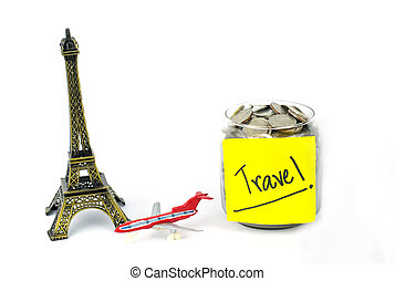 Travel Planning - Keep saving concept.