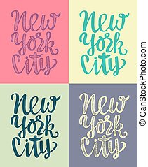 Travel poster with New York