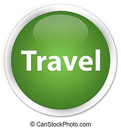 Travel premium soft green round button