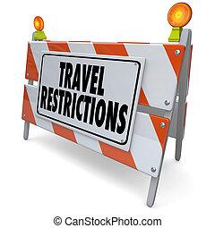 Travel Restrictions Road Construction Barrier Warning Danger Sig
