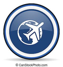 travel round glossy icon, modern design web element