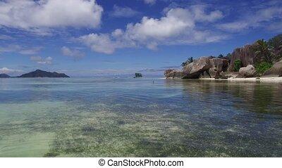 african island beach in indian ocean