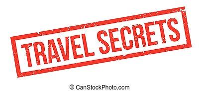 Travel Secrets rubber stamp
