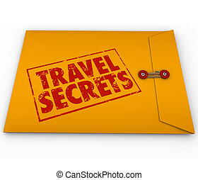 Travel Secrets Yellow Confidential Envelope Tips Advice Informat
