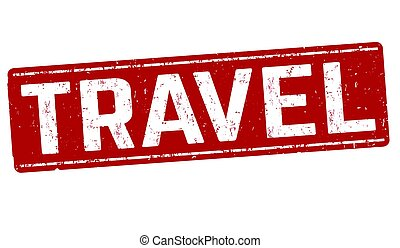 Travel sign or stamp
