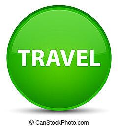 Travel special green round button