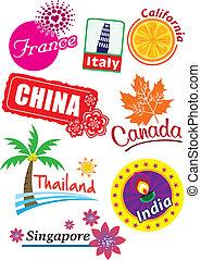 Travel Sticker Set