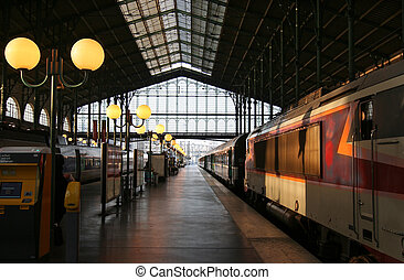 Travel - Evening sun in the railway station