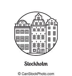 Travel Stockholm Icon