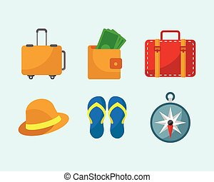 Travel Stuff Icon Set