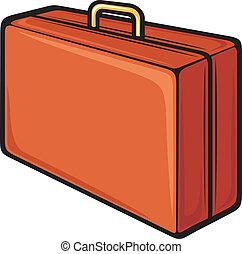 Travel suitcase over white. eps 10, ai, jpeg.