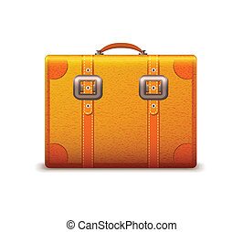 Travel suitcase emblem isolated vector illustration