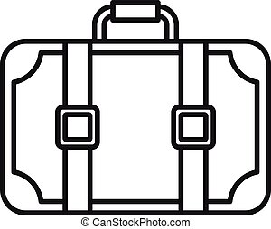 Travel suitcase icon, outline style