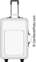 Travel suitcase in black and white design