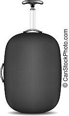 Travel suitcase in black design