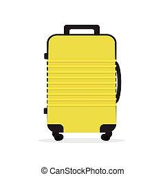 Travel suitcase isolated on white