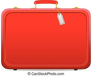 Travel suitcase on a white background.