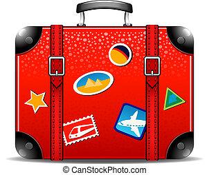 Travel suitcase over white. EPS 10, AI, JPEG
