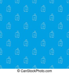 Travel suitcase pattern seamless blue