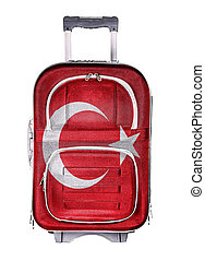 The concept of emigration, immigration, relocation, travel. Turkey.