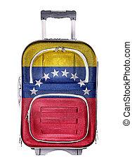 The concept of emigration, immigration, relocation, travel. Venezuela.