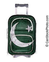 The concept of emigration, immigration, relocation, travel. Pakistan.