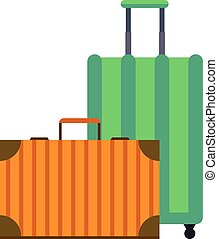 Travel suitcase vector illustration. - Large travel bag...