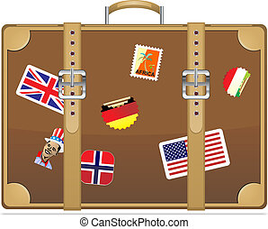 Travel suitcase Vector illustration eps 10