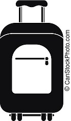Travel summer bag icon, simple style