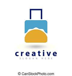 travel Sun abstract Logo icon vector template