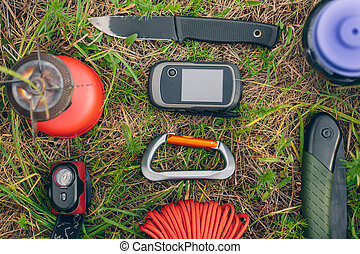 Travel survival kit in the wild - small Travel survival kit...