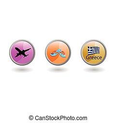 travel symbol vector illustration