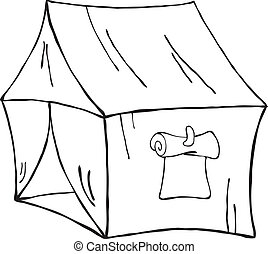 Travel tent, vector illustration