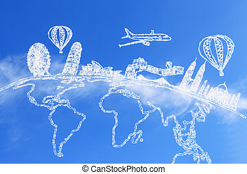 Travel the world and cloud