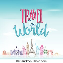 Travel The World Concept Background