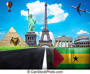 Travel the world conceptual image - Visit Sao Tome and...