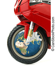 Travel the world with a motorcycle