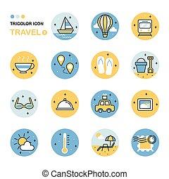 travel thin line icon