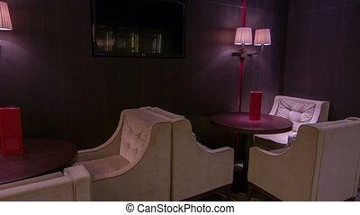 travel through interior of the restaurant