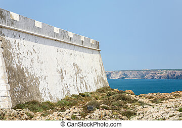 outside wall of Fortress of Sagres