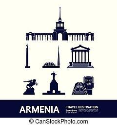 Travel to Armenia vector
