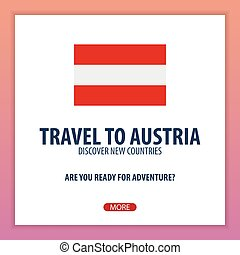 Travel to Austria. Discover and explore new countries. Adventure trip.