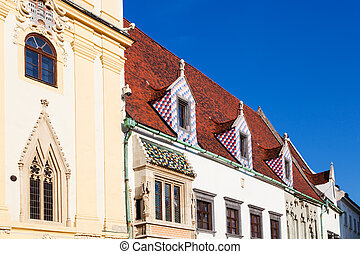 buildings of Old Town Hall in Bratislava